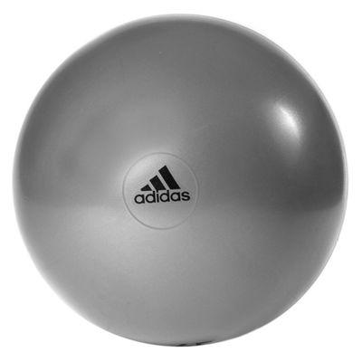 adidas 65cm Gym Ball Grey Logo View