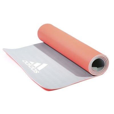 adidas 6mm Yoga Mat - Red - Rolled