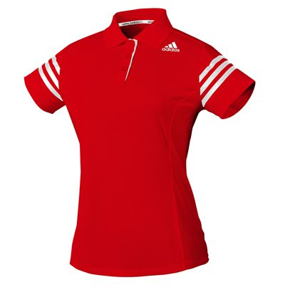 adidas Climacool Technical Ladies Polo Shirt - Red