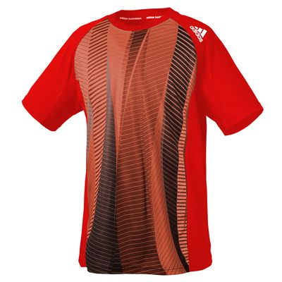 adidas Climacool Technical Mens Red T-Shirt
