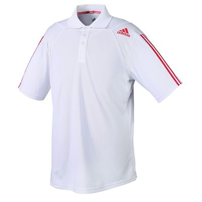 adidas Climacool Technical Mens Polo Shirt - White/Red