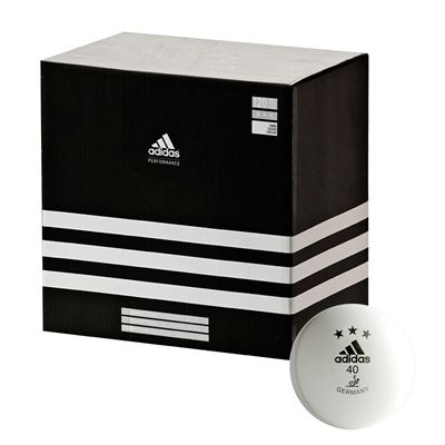 Adidas Competition Table Tennis Balls - Box of 120 white