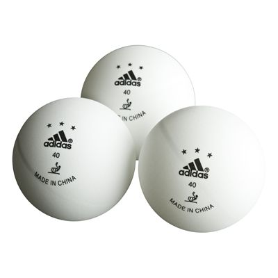 Adidas Competition Table Tennis Balls - 3 White