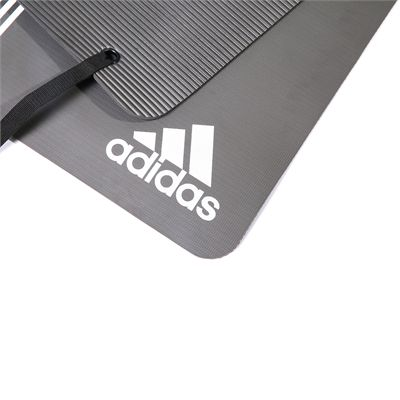 adidas Elite Training Mat-Grey and White - Logo View