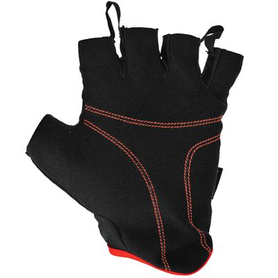 adidas Essential Fingerless Weight Lifting Gloves-Black and Red-Bottom