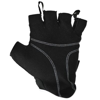 adidas Essential Fingerless Weight Lifting Gloves-Black and White-Bottom