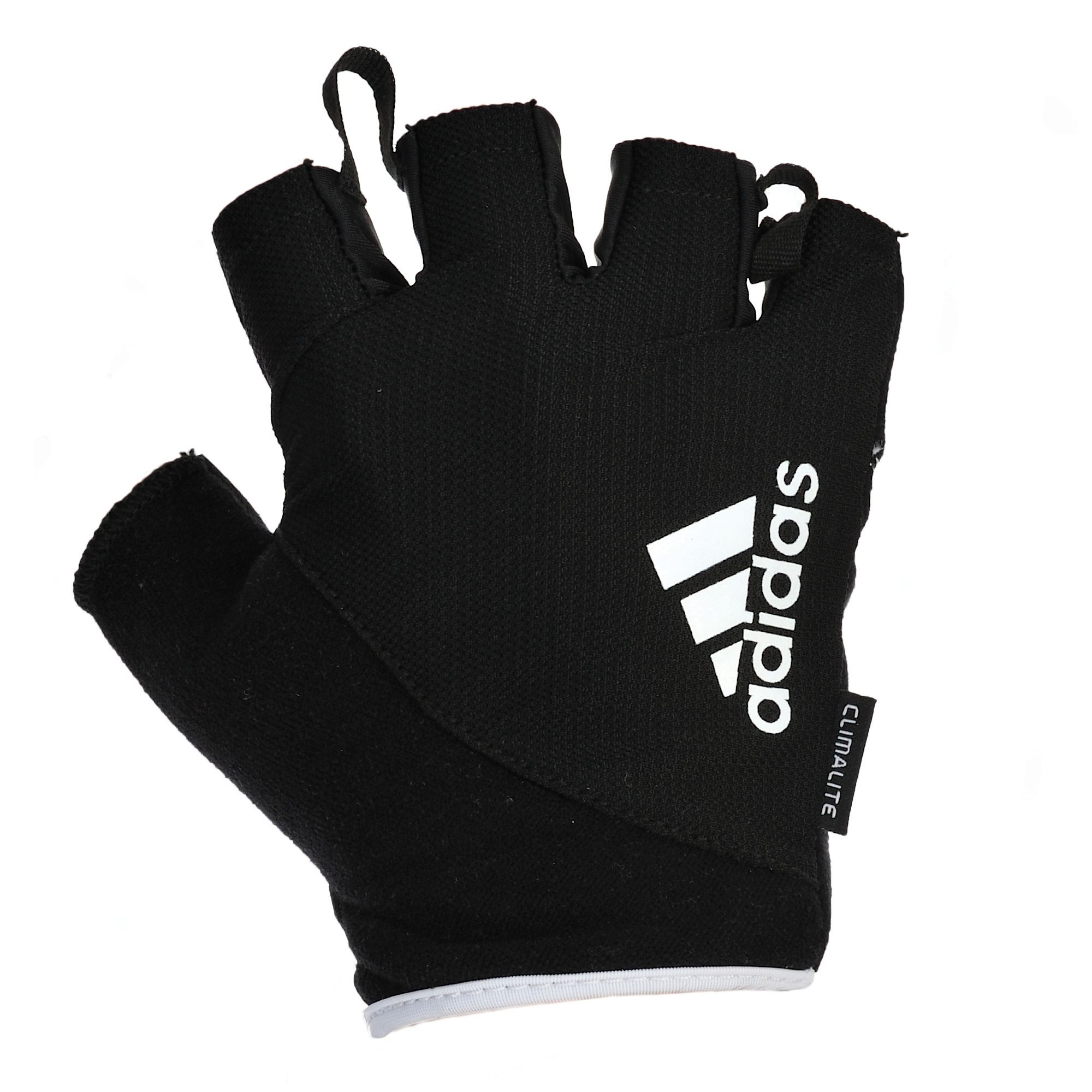 Dam Weight Lifting Gym Gloves Body Building Workout White: Adidas Essential Fingerless Weight Lifting Gloves