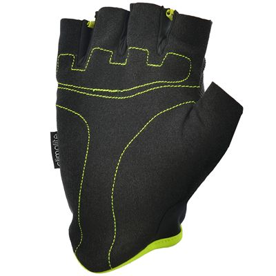 adidas Essential Fingerless Weight Lifting Gloves-Black and Yellow-Bottom
