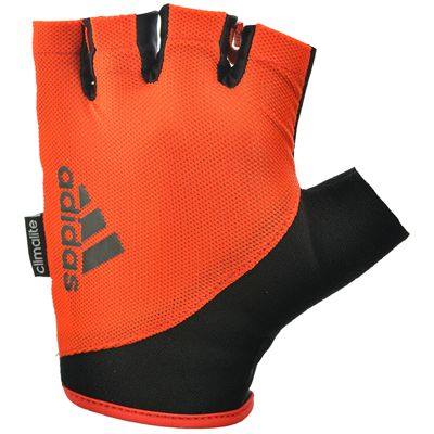 adidas Essential Fingerless Weight Lifting Gloves-Orange