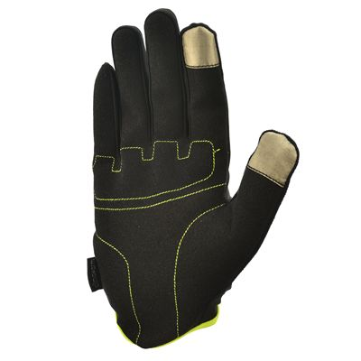 adidas Essential Full Finger Gloves - Yellow Bottom