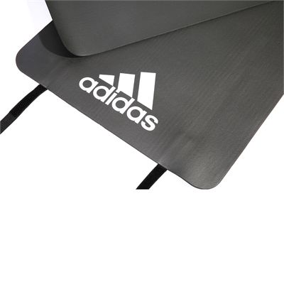 adidas Fitness Mat-Solid Grey - Logo View