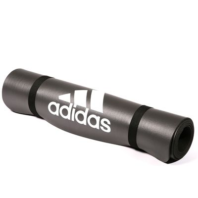 adidas Fitness Mat-Solid Grey - Roll View
