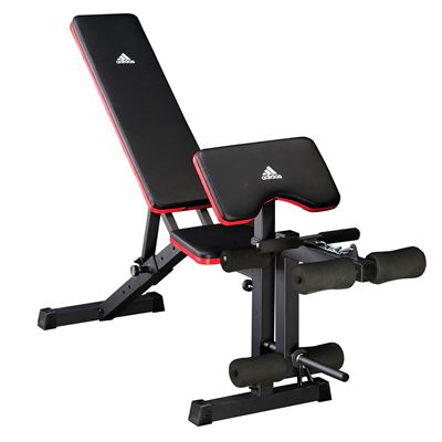 adidas Folding Weight Bench and Viavito 50kg Cast Iron Weight Set - Bench