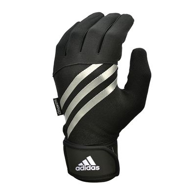 adidas Full Finger Weightlifting Gloves - Black/White