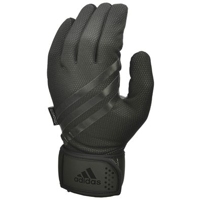 adidas Full Finger Weightlifting Gloves - Black