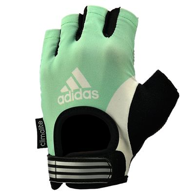 adidas Half Finger Ladies Fitness Gloves - Green