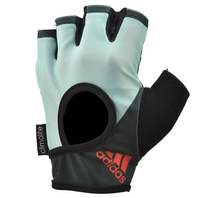 adidas Half Finger Ladies Fitness Gloves - Mint