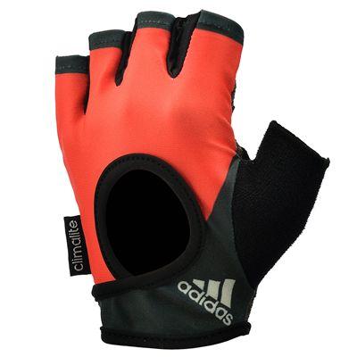 adidas Half Finger Ladies Fitness Gloves - Orange Black