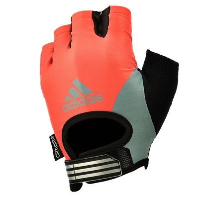 adidas Half Finger Ladies Fitness Gloves - Silver Black