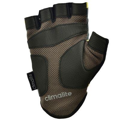 adidas Half Finger Ladies Fitness Gloves - Yellow - Bottom