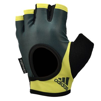 adidas Half Finger Ladies Fitness Gloves - Yellow