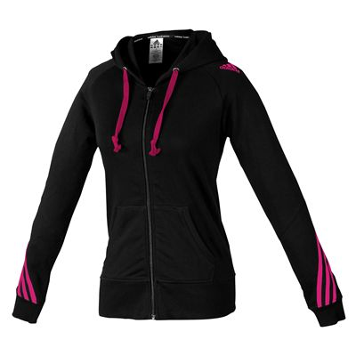 adidas Ladies Hoody Sweater with Zipper - Black