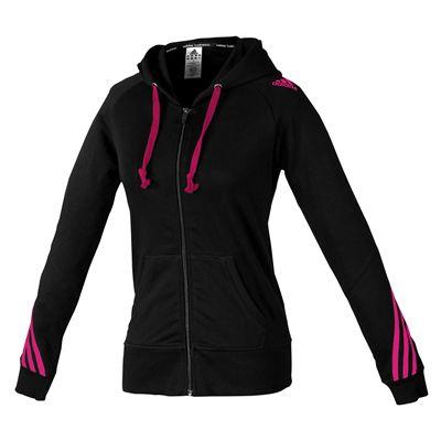 adidas Ladies Hoody Sweater with Zipper - Black