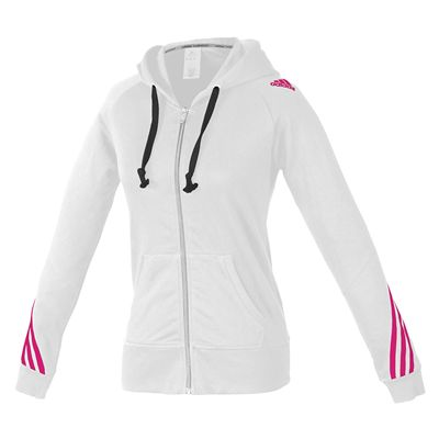 adidas Ladies Hoody Sweater with Zipper - White
