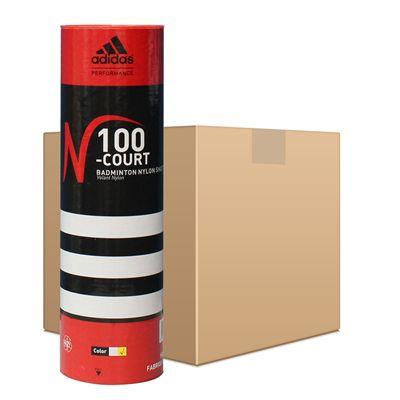 adidas N100 Championship Badminton Shuttlecocks - 50 Dozen - White