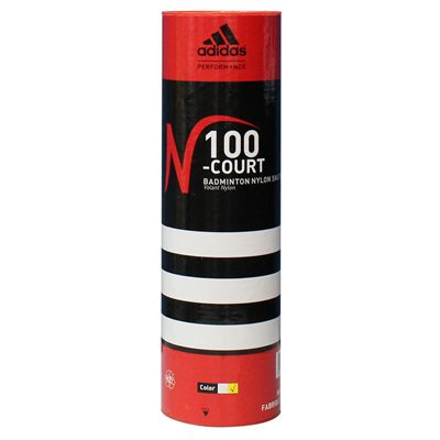 Adidas N100 Court Badminton Shuttlecock - Tube of 6