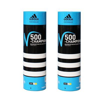 adidas n500 championship shuttlecocks 2  tubes - white