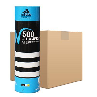 adidas N500 Championship Badminton Shuttlecocks - 50 Dozen - White
