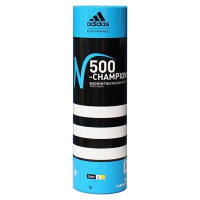 adidas n500 championship shuttlecocks 1 tube - white