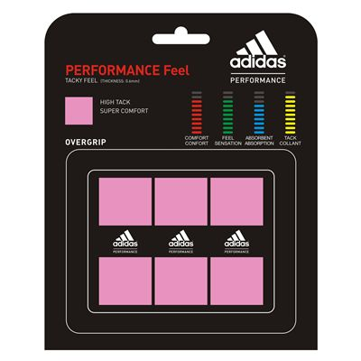 Adidas Performance Feel Overgrip 3 Pack Hot Pink