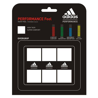 Adidas Performance Feel Overgrip 3 Pack White