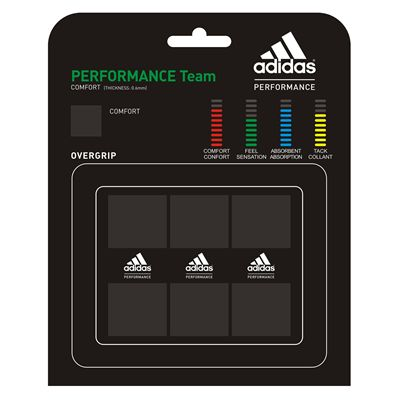 Adidas Performance Team Overgrip 3 Pack Black