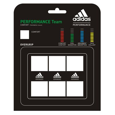 Adidas Performance Team Overgrip 3 Pack White