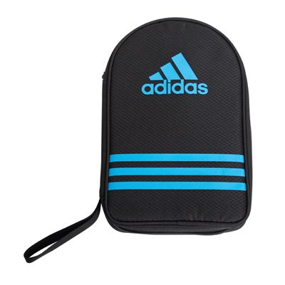 adidas Table Tennis Bat Double Bag - Black and Blue - Front