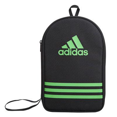 adidas Table Tennis Bat Double Bag - Black and Green - Main Image