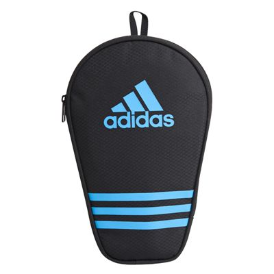 adidas Table Tennis Single Bat Bag - Black and Blue - Front
