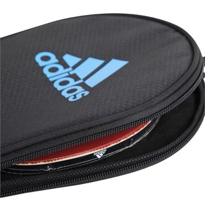 adidas Table Tennis Single Bat Bag - Black and Blue - With Bat