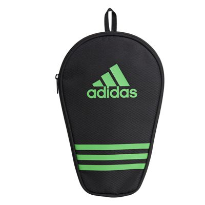 adidas Table Tennis Single Bat Bag - Black and Green - Front