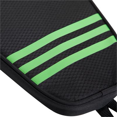 adidas Table Tennis Single Bat Bag - Black and Green - Three Stripes