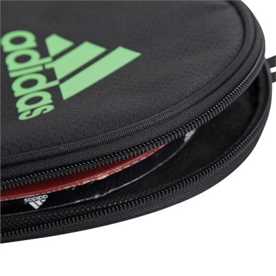 adidas Table Tennis Single Bat Bag - Black and Green - With Bat