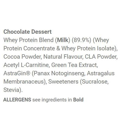 Applied Nutrition Diet Whey 1kg - Chocolate - Ingredients Chocolate