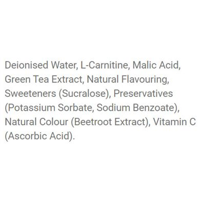 Applied Nutrition L-Carnitine Liquid 3000 with Green Tea - Ingredients