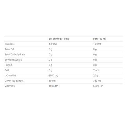 Applied Nutrition L-Carnitine Liquid 3000 with Green Tea - Tab