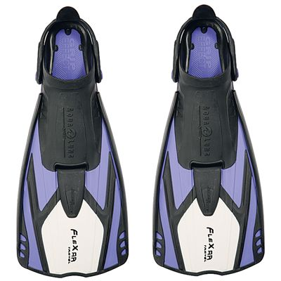 Aqua Lung Flexar Travel Fins - Black/Purple