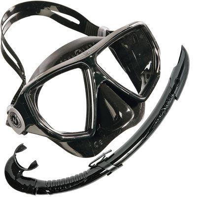 Aqua Lung Oyster LX Mask and Airflex LX Snorkel Set-Black