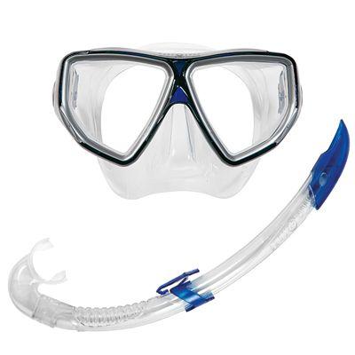 Aqua Lung Oyster LX Mask and Airflex LX Snorkel Set-Blue